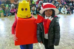 Students dressed up for Book Week